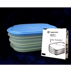 Tupperware Stackable Lunchmeat Containers